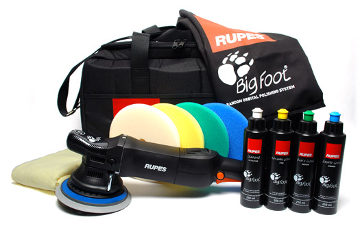 The Rupes Big Foot Random Orbital Polisher Deluxe Kit includes everything you need to polish your vehicle to perfection!