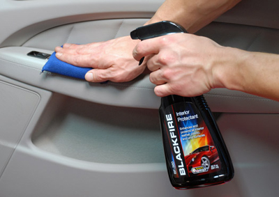 Blackfire Interior Protectant protects and conditions leather and vinyl.