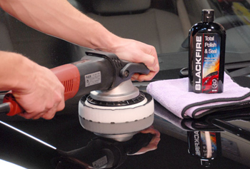 Blackfire Total Polish & Seal offers more correction when applied with a polisher.