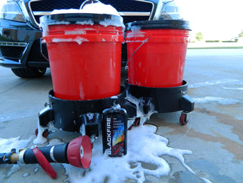 The Grit Guard Dual Wash Bucket System is your first defense against swirl marks!