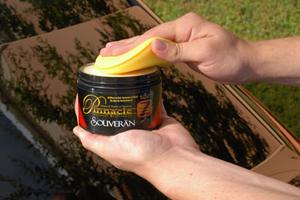 Pinnacle Souveran Carnauba Paste Wax can be applied by hand or machine