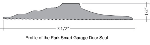 The Tsunami Seal effectively blocks water and debris from entering your garage.