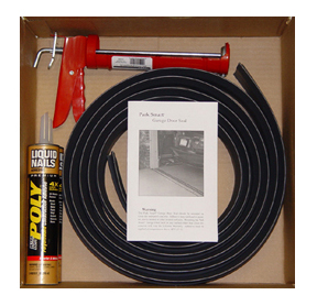 The Tsunami Seal kit comes with everything you need to protect your garage.