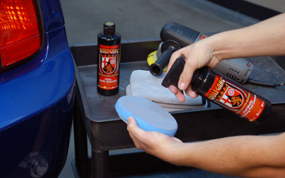 Wolfgang Pad Werks Polishing Pad Cleaner breaks up and releases caked on polish and wax residue from all pads