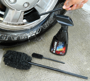Wheel Woolies make cleaning wheels quick and easy!