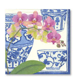 Beverage Napkins Orchids 20 Pc