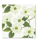 Beverage Napkins White Blossom 20 Pc