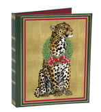 Chistmas Card List Book Leopard and Wreath