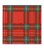 Beverage Napkins Plaid 20 Pc