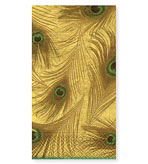 Guest Towels Peacock Gold 30 count