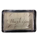 Desk Decor Paperweight Thank You