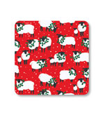 Festive Flock Red Salad Plates 16 Count