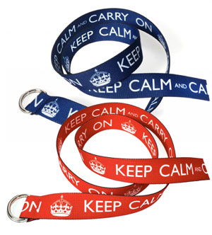 Keep Calm Carry On Belts