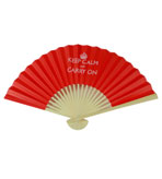 Keep Calm and Carry On Paper Hand Fan Red