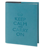 Keep Calm Blank Book Turquoise