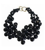 Kenneth Jay Lane Black Pearls
