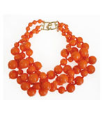 Kenneth Jay Lane Coral Beads