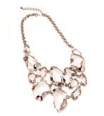 Kenneth Jay Lane Necklace Stone Bib 16""