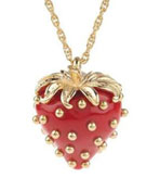 Kenneth Jay Lane Necklace Strawberry 16""