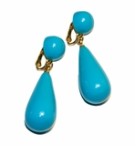 Kenneth Jay Lane Turquoise Clip On Earrings