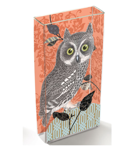 Owl Decor Decorative Glass Vases With Owl Decorations