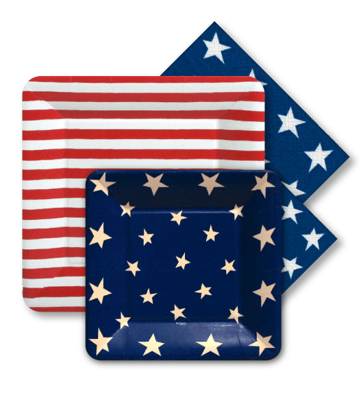Paper Plates and Napkins Flag  sc 1 st  Decorative Things & Paper Plates and Napkins Flags for the Olympics \u0026 Other Patriotic Events