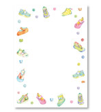 Party Invitations Baby Shoes Blank Pack 8