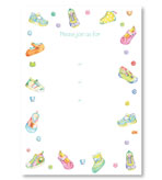 Party Invitations Baby Shoes Fill In Pack 8