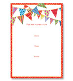 Party Invitations Festive Flag Fill In Pack 8