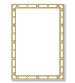 Party Invitations Gold Lattice Blank Pack 8