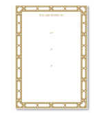 Party Invitations Gold Lattice Fill In Pack 8