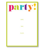 Party Invitations Party Fill In Pack 8