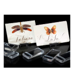 Place Card Holder Lucite Set 10