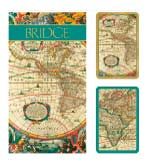 Playing Cards Set & Bridge Pads Map