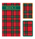 Playing Cards Set & Bridge Pads Plaid
