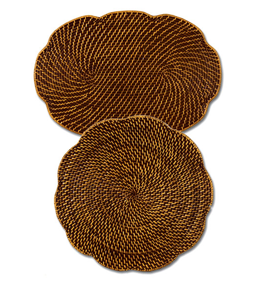 Rattan Place Mats Both Oval Amp Round Rattan Table Mats