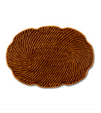 Rattan Place Mats Set 4 Oval