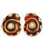 Shell Earrings Tortoiseshell