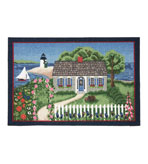 Small Kitchen Rug 30x46 Inch Nantucket Scene