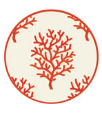 Round Placemats Coral