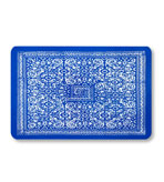 Vinyl Placemats Block Print Blue Set 4