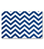 Vinyl Placemats Chevron Blue Set 4