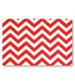 Vinyl Placemats Chevron Red Set 4