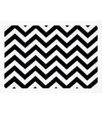 Vinyl Placemats Chevron Black Set 4