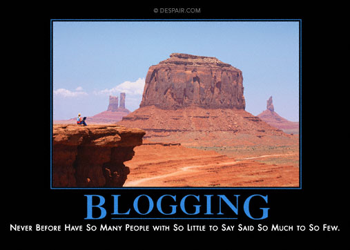 Blogging demotivational