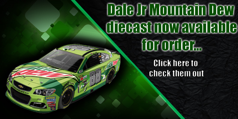 dale jr mountain dew nascar diecasts