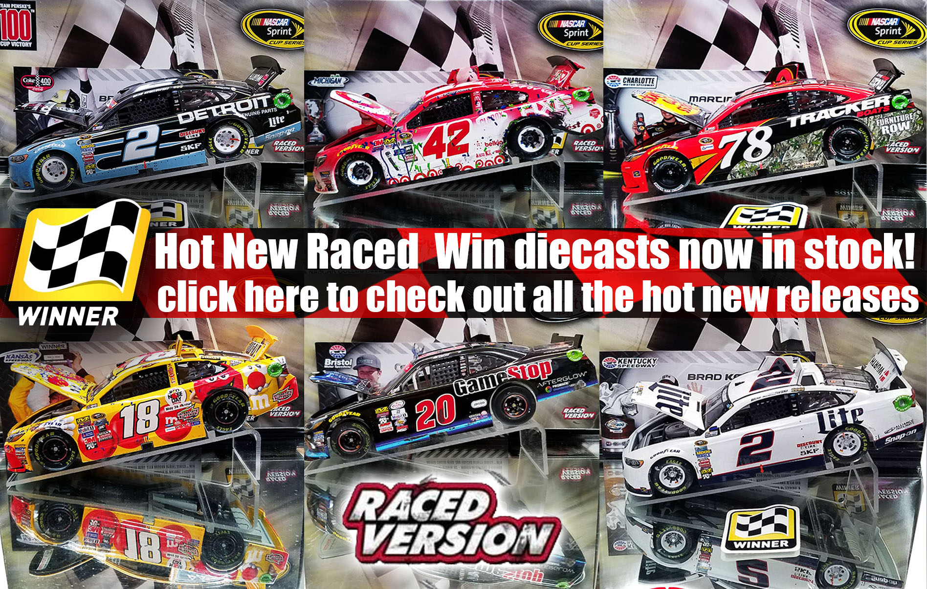 hot new nascar diecasts