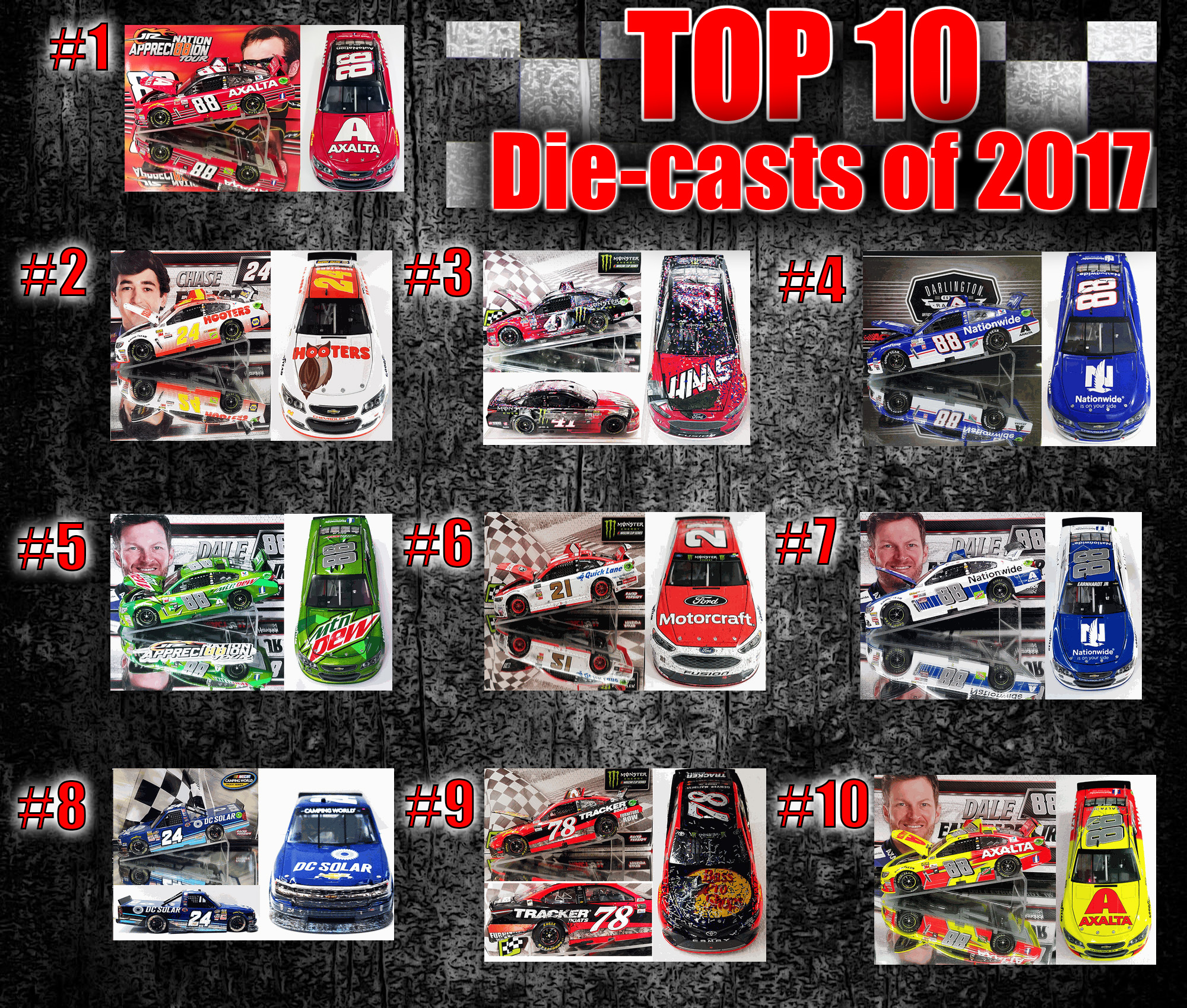 top 10 nascar diecasts
