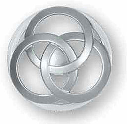 Aluminum Inter-Locking Circles Knob