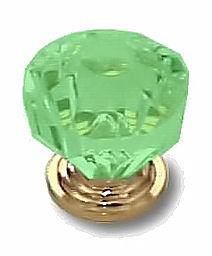 Crystal Clear Green Acrylic Knob